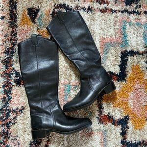 Louise et Cie Black leather tall boots